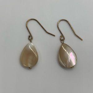 Mother of pearl tear drop earrings